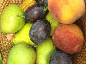 Locally grown fruits