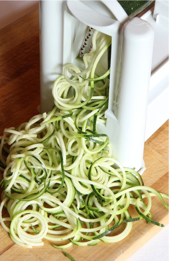 Delicious Raw Noodles - Zucchini and Kelp Noodles with Cilantro Pesto Sauce