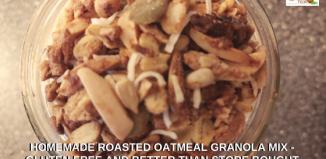 Homemade Roasted Oatmeal Granola Mix